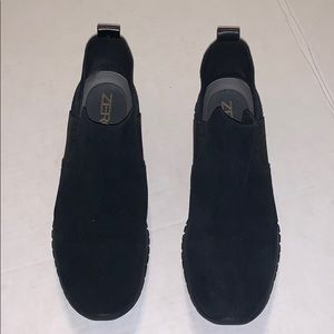 Cole Haan Zerogrand Slip On Ankle 7.5B Black Suede